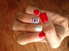 4th of July Gelish Nail art
