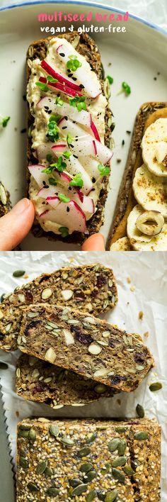 #vegan #bread #dairyfree #glutenfree #superfood #healthy #easy #yeastfree #noknead #seedy #multiseed