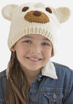 Knitted Polar Bear Hat By Jodi Lewanda - Free Knitted Pattern - (simplicity)