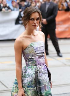 Keira Knightley on the Can A Song Save your Life red carpet in Mary Katrantzou #TIFF13