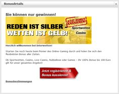 Sport bets & top odds at Interwetten 100 Euro, Gaming, Live, Sports, Sports Betting, Welcome, Videogames, Excercise, Sport