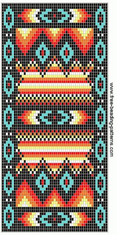 free beading patterns | free-beading-pattern-wallet-southwest-fire