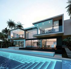 great names 38 Fabulous Latest House Designs Architecture Luxury Modern Homes, Luxury Homes Dream Houses, Dream Homes, Modern Architecture House, Architecture Design, Architecture Interiors, Modern Houses, Modern Mansion Interior, Miami Architecture