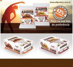 Os COOKIES PROTEICOS All Protein já são um sucesso no Brasil.  A loja que você gosta de comprar seus suplementos e produtos naturais ainda não tem? Peça já para a sua loja e tenha a disposição um lanche proteico prático que auxilia você a manter o FOCO.  Visite http://allprotein.com.br