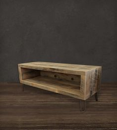Reclaimed Wood Rustic Log Tv Stand Diy Inspiration For Our Walnut Slabs Slab Ideas