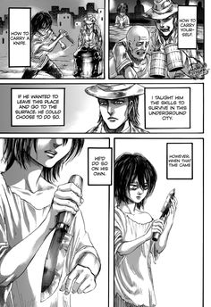 Attac on Titan Manga, Chapter 69 pg.16 Young Levi and Kenny
