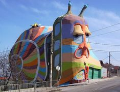 House-snail in Sofia. I really think this would creep me out going home to it every night.