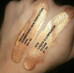 Becca shimmering skin perfector highlighter in opal Nyx dupe gleam Nyx Dupes, Lipstick Dupes, Nyx Cosmetics, Eyeshadow Dupes, Skincare Dupes, Love Makeup, Makeup Inspo, Makeup Inspiration, Makeup Looks