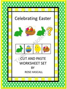 Celebrating Easter Cut and Paste worksheet set from smalltowngiggles on TeachersNotebook.com -  (22 pages)  - Easter is a sign that winter is over and spring is here. A time to celebrate. Students can enjoy this time of celebration and have fun learning at the same time with this Celebrating Easter Cut and Paste worksheet set.