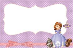 Princesinha Sofia da Disney - Kit Completo com molduras para convites, rótulos para guloseimas, lembrancinhas e imagens! - Fazendo a Nossa Festa