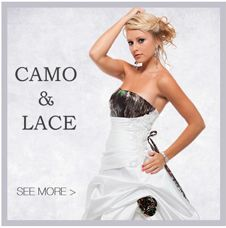 Camo Wedding Gowns at www.camoformal.com