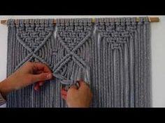 DIY COMO HACER UNA CORTINA MACRAME CON TRAPILLO | SUPER FACIL - YouTube