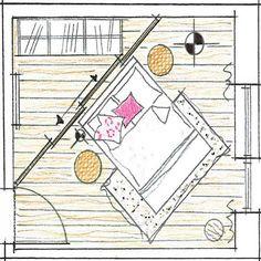 Raumteiler-Skizze