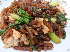 Fried Loh See Fun with Pork / Beef - THERMOMIX Marinate Meat, Bean Sprouts, Oyster Sauce, Big Bowl, Kung Pao Chicken, Oysters, Fries, Pork, Beef