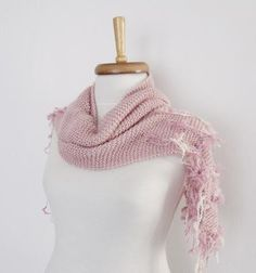 Pink Scarf-Women Scarf-Handmade Scarf-Ready for shipping by knittingshop on Etsy