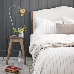 Our Coco is a beautiful French style bed hand carved by graduates from a traditional carving school. Home Decor Bedroom, Bedroom Furniture, Master Bedroom, Bedroom Ideas, Bedroom Inspiration, Modern Country Bedrooms, Chesterfield Style Sofa, Tongue And Groove Panelling, Modern Scandinavian Interior
