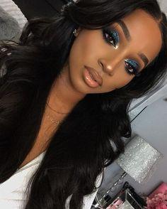 Gorgeous Makeup: Tips and Tricks With Eye Makeup and Eyeshadow – Makeup Design Ideas Dark Skin Makeup, Makeup On Fleek, Flawless Makeup, Glam Makeup, Gorgeous Makeup, Pretty Makeup, Eyeshadow Makeup, Beauty Makeup, Makeup Looks