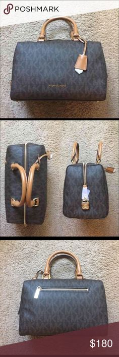 Michael Kors Kirby Medium Satchel Like New Michael Kors Brown satchel bag. Comes with long strap. I've used this bag maybe 3 times. KORS Michael Kors Bags Satchels