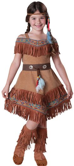 Indian Maiden Pocahontas Sacagawea Child Costume Kid Movie Theme Party Halloween #InCharacter
