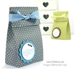 Stampin' Up! UK Demonstrator Pootles - Fold Over Paper Bag Tutorial