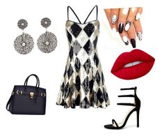 """""""A night out dinner & dancing"""" by aasisterstouch ❤ liked on Polyvore featuring Liliana, DANNIJO and Lime Crime"""