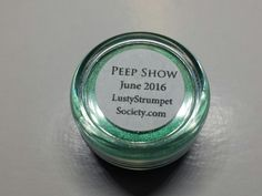 Lusty Strumpet Subscription Shade #1 June 2016 Peep Show. This Sweet Libertine Cosmetics mineral eyeshadow is a vibrant, shimmery,  emerald. Vegan