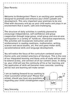 Back To School Kindergarten Welcome Packet Editable  Education