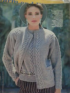 Ravelry: Cable Cardigan and Vest pattern by Nicky Epstein