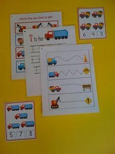 Truck theme PreK unit