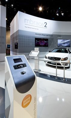 Mercedes-Benz CES Exhibit by Joe Tedesco at Coroflot.com Prop Design, Display Design, Booth Design, Temporary Architecture, Experiential Marketing, New Job, Mercedes Benz, Product Sketch, Bmw