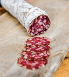 "How to make saucisson sec, a classic French dry-cured sausage, from ""The New Charcuterie Cookbook"" by Jamie Bissonnette. (How To Make Chicken Sausage) Salami Recipes, Homemade Sausage Recipes, Charcuterie Recipes, Meat Recipes, Cooking Recipes, Sushi Recipes, Meat And Cheese, Smoking Meat, Fermented Foods"
