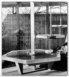 1965 Book Mid Century Modern Water Features Pools Fountains Shulman Eckbo | eBay