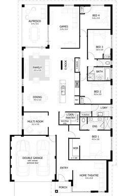 Portman Floor Plan   Featuring a spacious open plan living area    Brando Floor Plan