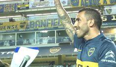 Carlos Tevez fue presentado por Boca Juniors y La Bombonera fue una fiesta. July 13, 2015.
