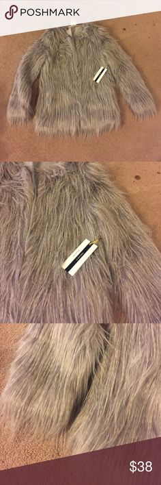 FOREVER 21 Premium Label - Faux Fur Jacket (Gray) Not worn, excellent condition. Forever 21 Jackets & Coats
