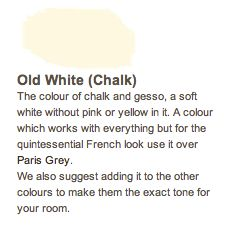 Hueology chalk paint in Old White