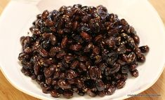Braised Black Soybeans, Kongjaban 콩자반 - Black Soybeans 검은콩/서리태, Water 물, Soy Sauce (regular) 왜간장, Cheongju, Korean Rice Wine 청주, Sugar 설탕, Mul Yeot / Malt (Maltose) Syrup 물엿, Sesame Seeds 깨