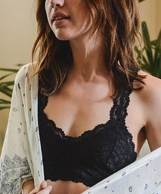 df4b3d4a42af1 Another great find on  zulily! Black Lace Racerback Bralette by Leto  Collection  zulilyfinds