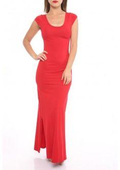 Designer Bodycon Abendkleid Rundhals Rot
