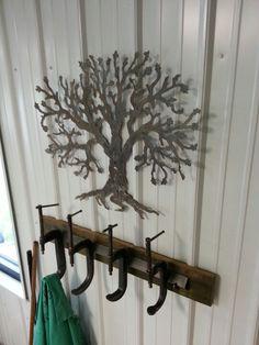 Plasma Cut Tree/Clamp Coat Rack