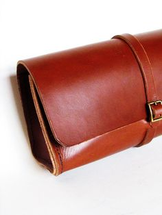 Brown Leather Dopp Kit Toiletry Bag for by CicadaLeatherCompany, $125.00