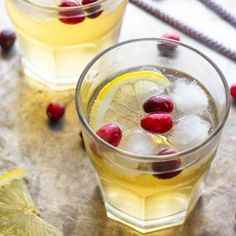 Cranberry Ginger Cider Cocktail...ready in 2 minutes flat!