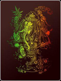 Creation at it's best Marijuana Art, Ganja, Hanuman Hd Wallpaper, Rasta Colors, Stoner Art, Acid Trip, Hindu Deities, Hinduism, Tatoo