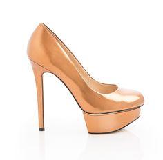 Bronze Metallic Heels.