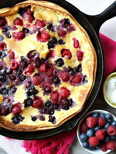 DOUBLE BERRY PUFFED PANCAKE