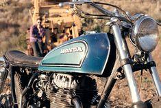 Honda CB360 vintage motorcycle.