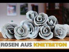 DIY: Deko Rose aus Knetbeton Selber machen! In 2 min! - YouTube