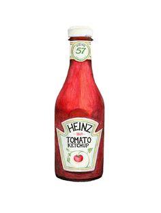 Heinz Tomato Ketchup Illustration d'archivage de qualité imprimable