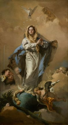 SAINT MARY WITH SNAKE