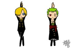 Zoro and Sanji - One Piece  Are they dancing to the Ending of Baby Please kill me?!!!!
